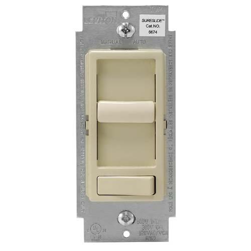Wattstopper Universal Dimmer: Leviton 6674-P0I SureSlide Universal 150-Watt LED And CFL